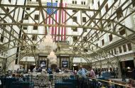 IMAGE: Outside Trump Hotel, an Uproar. Inside, a Calm Sea of Conservative Cash.