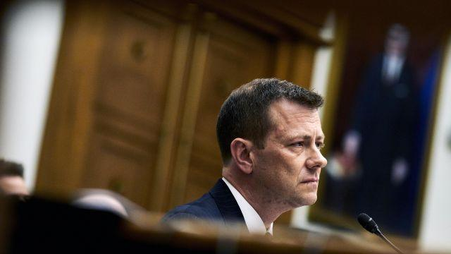 FILE -- Peter Strzok, a top FBI counterintelligence agent, appears at a heated congressional hearing in Washington on July 12, 2018. Strzok, who disparaged President Donald Trump in inflammatory text messages and helped oversee the Hillary Clinton email and Russia investigations, was fired for violating bureau policies, his lawyer said Monday, Aug. 13, 2018. (T.J. Kirkpatrick/The New York Times)
