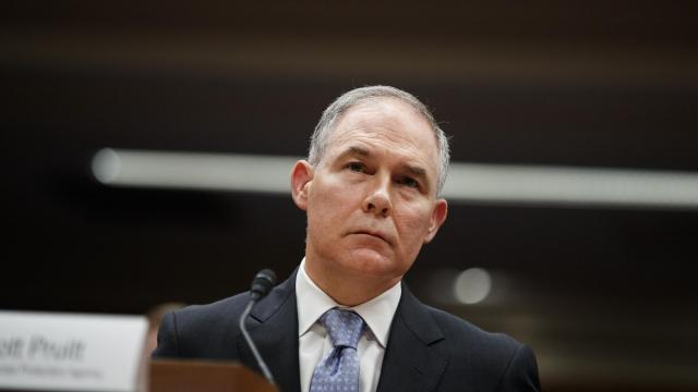 FILE — Scott Pruitt, the Trump administration's Environmental Protection Agency chief, testifies on Capitol Hill in Washington, May 16, 2018. The cost of the security services to protect Pruitt more than doubled in his first 11 months on the job and the EPA failed to justify his requests for protection, its own inspector general reported. (Tom Brenner/The New York Times)
