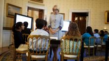 IMAGES: DeVos Punts to Congress on Federally Funded Guns for Schools