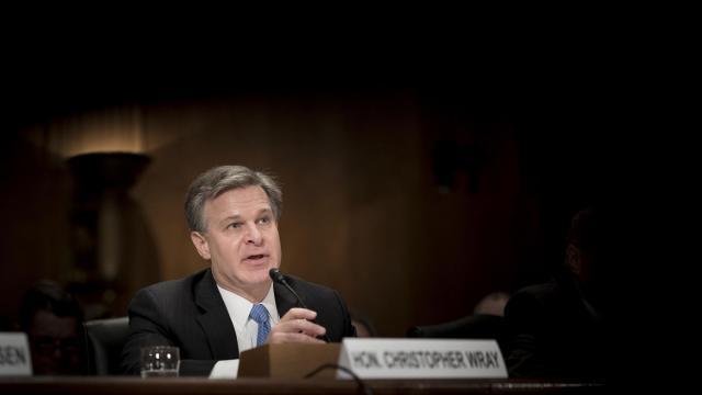 FBI Director Christopher Wray testifies before the Senate Homeland Security and Governmental Affairs Committee, on Capitol Hill in Washington, Oct. 10, 2018. Wray defended the bureau's handling of an abbreviated background check into Justice Brett Kavanaugh, amid criticism that the FBI should have more thoroughly investigated sexual assault allegations. (Erin Schaff/The New York Times)