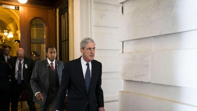 FILE -- Robert Mueller, the special counsel, leaves after a meeting at the Capitol, in Washington, June 21, 2017. The FBI has been asked to investigate what appears to be an effort to smear Mueller, stemming from suspicious emails offering women money in exchange for fabricating sexual misconduct claims against him. (Doug Mills/The New York Times)
