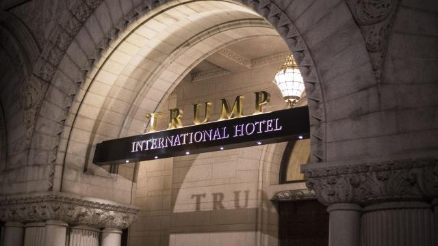 FILE — The Trump International Hotel on Pennsylvania Avenue in Washington, just blocks from the White House, Aug. 3, 2017. A judge in Maryland ordered evidence-gathering to begin in a lawsuit accusing President Donald Trump of violating the Constitution by accepting financial benefits, or emoluments, from his interest in his company's Washington hotel. (Alex Wroblewski/The New York Times).