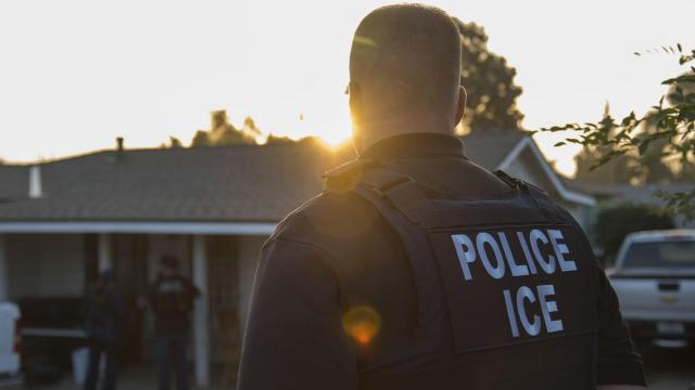 FILE -- A pre-dawn raid by agents from the U.S. Immigration and Customs Enforcement, in Riverside, Calif., June 22, 2017. The day after the 2018 midterm elections, the president inaccurately boasted about the results and gave misleading statements on health care, immigration and trade. (Melissa Lyttle/The New York Times)