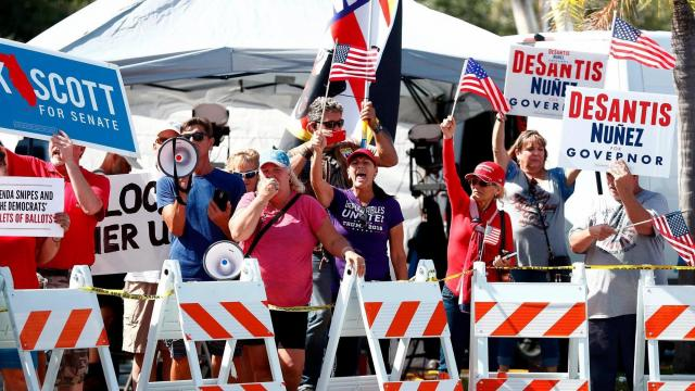 Florida judge admonishes both sides to 'ramp down the rhetoric' as recount heats up
