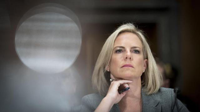 FILE -- Kirstjen Nielsen, the secretary of Homeland Security, during a Senate hearing on Capitol Hill in Washington, Oct. 10, 2018. President Donald Trump is considering firing Nielsen as part of a wave of cabinet and staff changes, three people close to the president said on Nov. 13. (Erin Schaff/The New York Times)