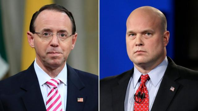 Maryland argues Rosenstein, not Whitaker, should be acting attorney general