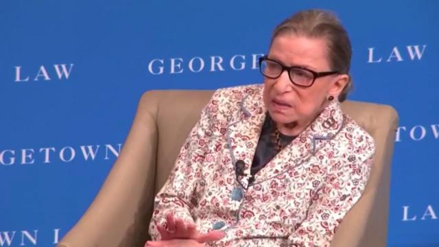 Justice Ginsburg returns to Supreme Court for work after fall