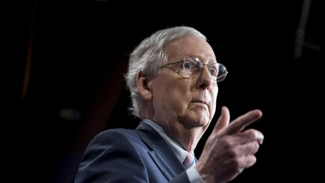 FILE -- Senate Majority Leader Mitch McConnell (R-Ky.) at a news conference on Capitol Hill in Washington, Oct. 6, 2018. Sen. Chuck Grassley (R-Iowa) called in his chits with McConnell, part of a broad campaign to get a criminal justice overhaul over the finish line, according to three people familiar with the call. (Erin Schaff/The New York Times)