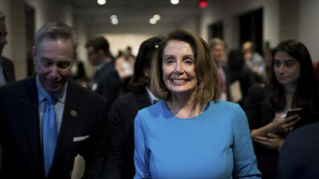 House Minority Leader Nancy Pelosi (D-Calif.) leaves a meeting of the House Democratic Caucus on Capitol Hill, in Washington, Nov. 28, 2018. In a sign of the strength of a new generation, House Democrats at the meeting chose Rep. Hakeem Jeffries (D-N.Y), 48, for their No. 5 leadership post over Barbara Lee (D-Calif.), 72, a hero to the left. (Erin Schaff/The New York Times)