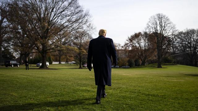 President Donald Trump departs for Philadelphia, after speaking with reporters on the South Lawn of the White House, in Washington, Dec. 8, 2018. Finding a replacement for the White House chief of staff, John Kelly, is in many ways just the latest staffing snare in a White House that has struggled to fill even low-ranking jobs. (Al Drago/The New York Times)