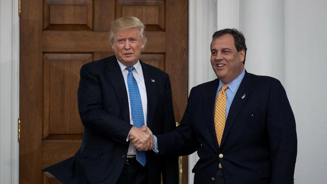 Christie takes himself out of running for White House chief of staff