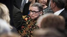 IMAGES: Ruth Bader Ginsburg released from hospital after cancer surgery
