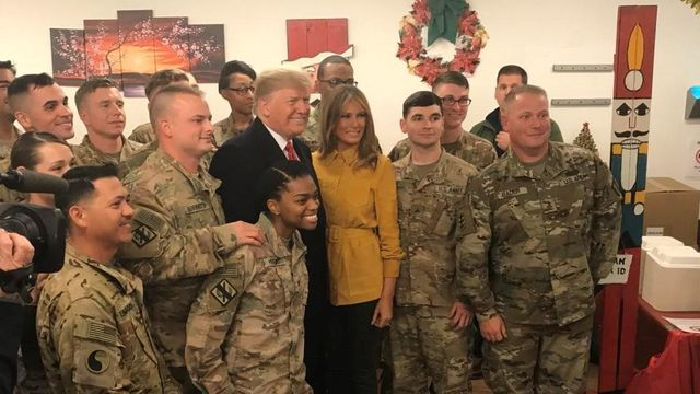 President Trump and first lady Melania Trump make surprise visit to Iraq