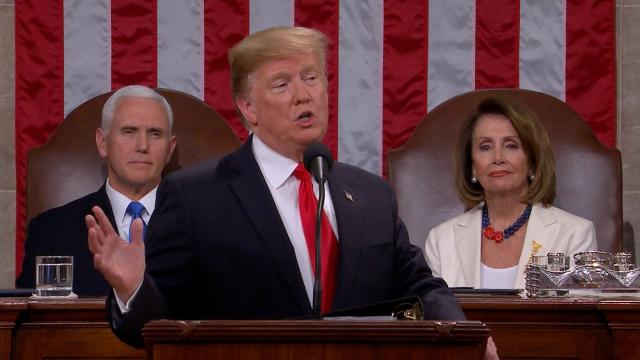 President Donald Trump delivered his 2019 State of the Union address on Tuesday. (CNN/Pool)