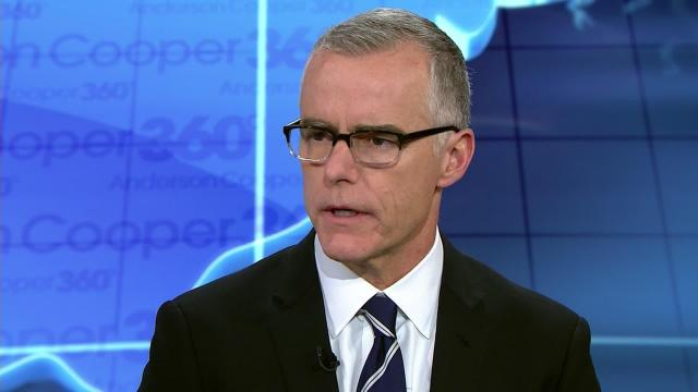 """Former acting FBI Director Andrew McCabe said President Donald Trump is undermining US law enforcement and intelligence agencies, during an interview on """"Anderson Cooper 360"""" Tuesday. (CNN)"""