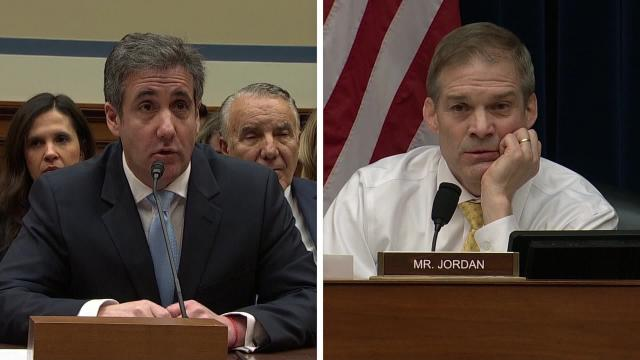 GOP Rep. Jim Jordan, ranking member of the House Oversight Committee, criticized Chairman Elijah Cummings for holding a hearing and allowing Michael Cohen to testify: (CNN)