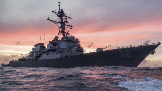 The White House Military Office coordinated directly with the Navy's Seventh Fleet to have the USS John S. McCain hidden from view during President Donald Trump's visit to Japan, acting Defense Secretary Patrick Shanahan told reporters Sunday, though that request was ultimately not carried out. (US Navy)