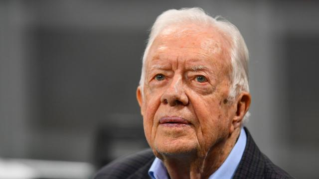 Jimmy Carter released from hospital after two week stay
