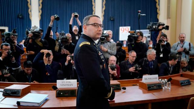 Republican senator attacks National Security Council aide and Purple Heart recipient who testified in impeachment probe