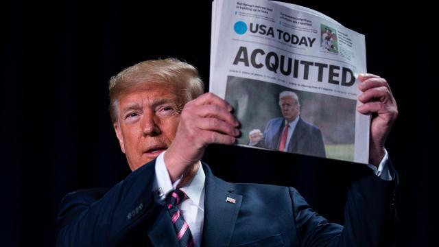 Trump begins vindictive impeachment victory lap after acquittal