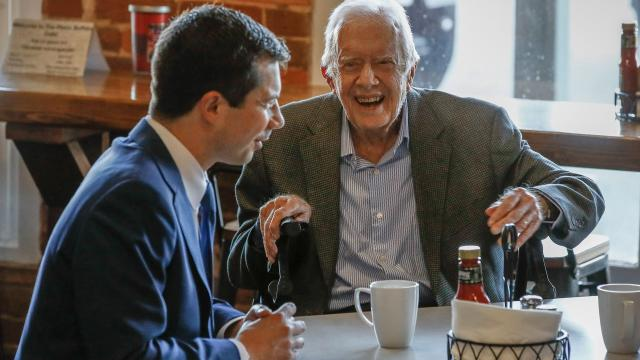 Pete Buttigieg had breakfast with Jimmy Carter before ending his White House bid