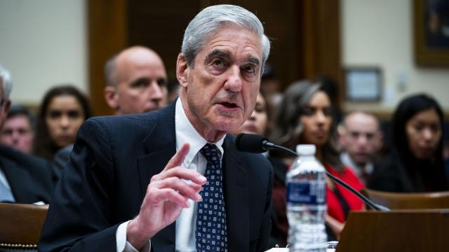 FILE -- Robert Mueller, the former special counsel, testifies before the House Judiciary Committee in Washington, July 24, 2019. The Justice Department moved on Monday, March 16, 2020, to drop charges against two Russian shell companies accused of financing schemes to interfere in the 2016 election, saying that they were exploiting the case to gain access to sensitive information that Russia could weaponize. (Doug Mills/The New York Times)