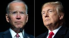 IMAGES: Trump, Biden go at it — from a distance — in town halls