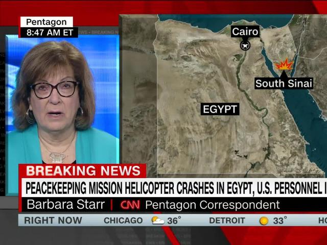 8 killed, including 6 Americans, in helicopter crash involving peacekeeping force in Egypt
