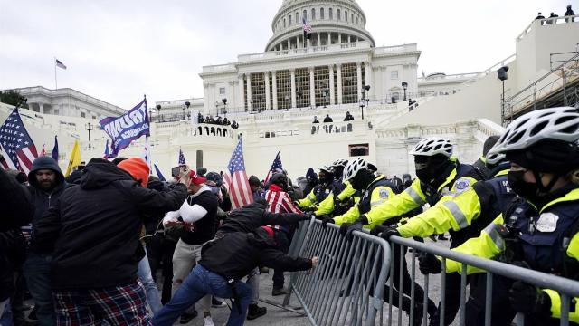 A police officer has died as a result of the riots at the U.S. Capitol on Wednesday.