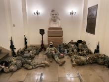 Inside the Capitol for Impeachment: National Guard in Every Corner