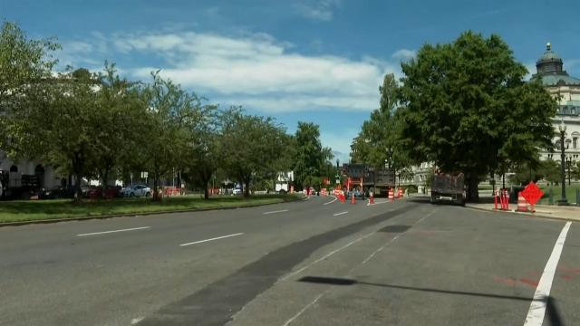 Police probing study  of explosive successful  motortruck  adjacent   Capitol