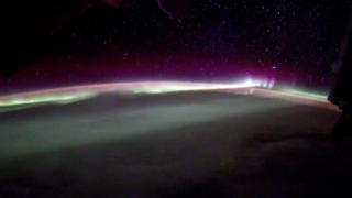 NASA astronaut captures aurora timelapse from space