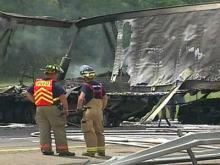 Crews Work to Reopen Stretch of I-40 Damaged in Fiery Wreck
