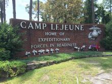 Camp Lejeune sign 16x9