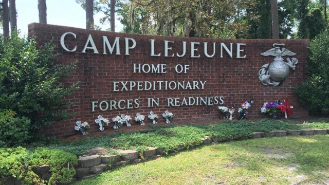 Camp Lejeune sign 16x9