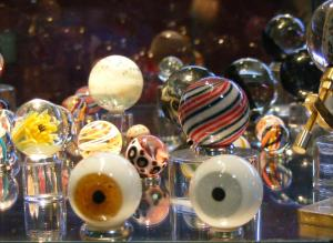 Curtis Cecil started making glass eyeballs for a contest.