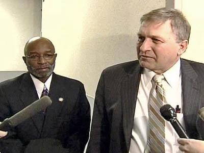 Thomas Wright with attorney Douglas Harris
