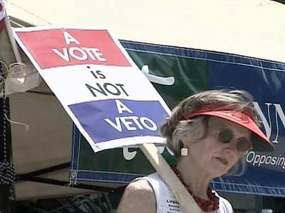 Involuntary annexation opponents rally
