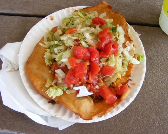Indian Taco from Illya's Concessions. Good but huge!