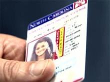 Vertical driver's license