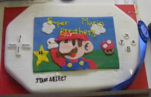 Prize-winning Super Mario Brothers cake.