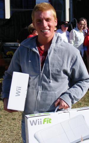 Evan Real, winner of the North Carolina State Fair 2008 Pants Dance Revolution contest.