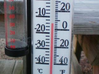 A thermometer registers 6 degrees Fahrenheit at Ten-Ten Road and N.C. Highway 50 in Garner at 7:45 a.m. Saturday, Jan. 17, 2008. (Photo courtesy: Albert Oldham)