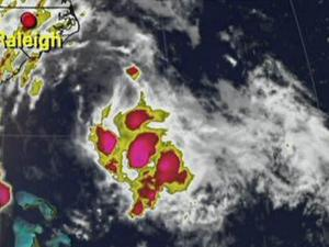 Tropical Storm Danny at 6 p.m. Friday, Aug. 28, 2009