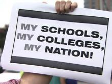 Protest against allowing illegal immigrants at community colleges
