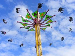 The Vertigo ride. Think very high swings.