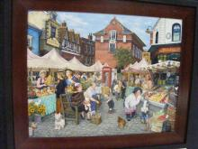 Susan Brabeau's award-winning painting, NC State Fair 2009