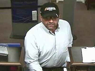 North Carolina authorities are looking for this man who robbed a  Wachovia Bank branch at 1501 South Cannon Blvd. in Kannapolis on Oct. 6, 2009. (Photo courtesy of ncbankrobbers.com.)