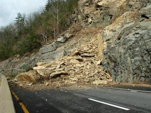 A new rockslide occurred on the closed section of Interstate 40, just west of Harmon's Den exit 7, sometime late Friday, Jan. 22, 2010, causing rocks and loose material to cover an additional small section of the westbound lanes.